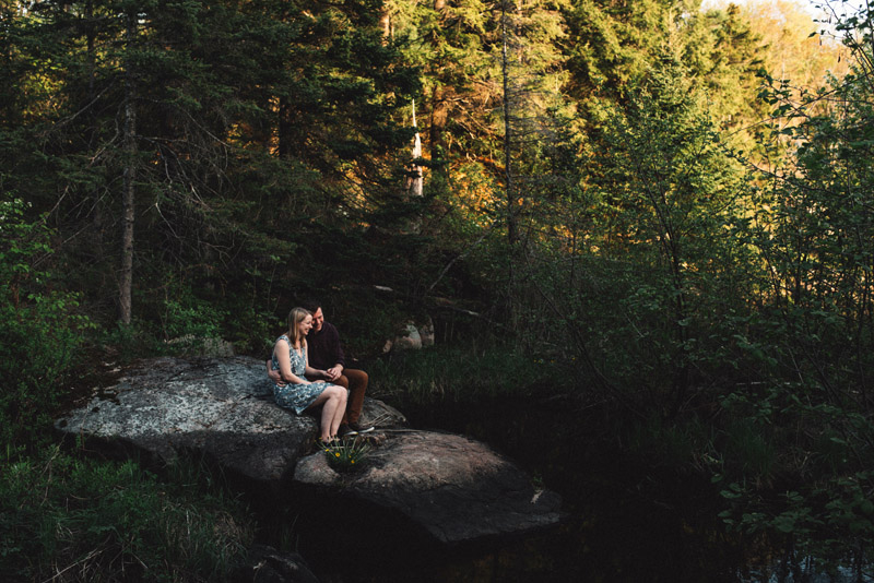 beautiful forest engagement session