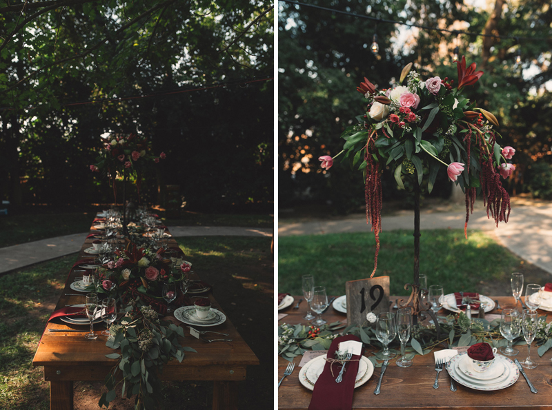 Visilia Wedding backyard reception details