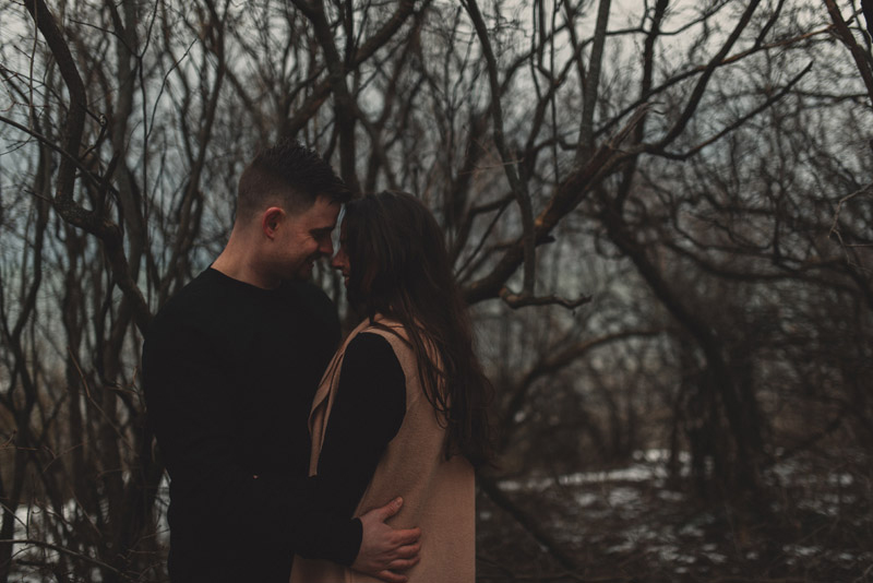 mystic woods engagement session