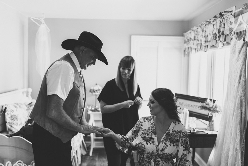 Cowboy styled father of bride