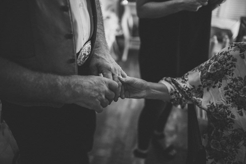 bride holding her fathers hands