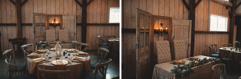 Stonefields Barn interior decorated