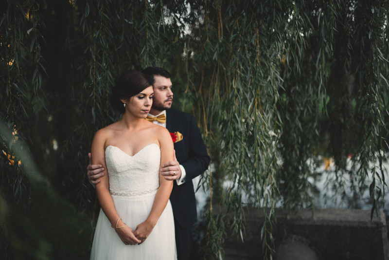 couple in willow trees