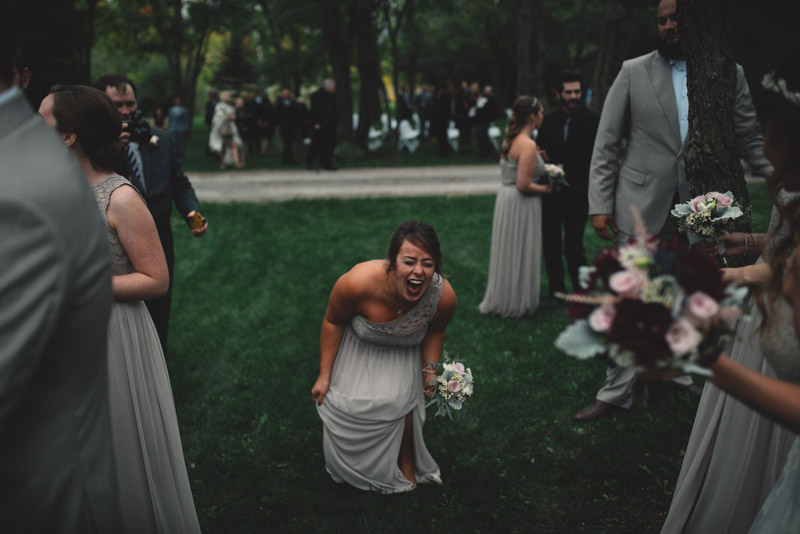 excited bridesmaid