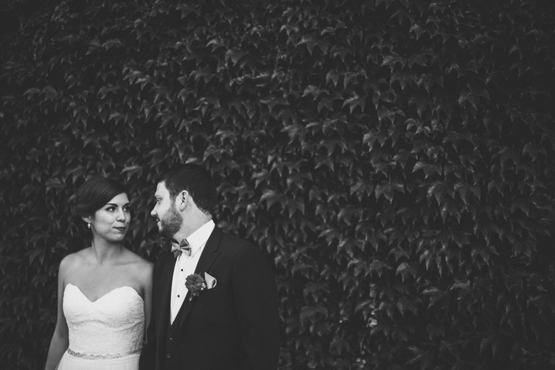 gorgeous ivy backdrop in wedding portraits